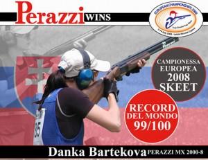 Propagácia firmy Perazzi pri príležitosti vytvorenia môjho finálového svetového rekordu v Nikózii 2008
