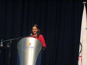 Konferencia o športe, vzdelaní a výchove v juhoafrickom Durbane, kde som vystúpila
