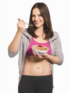 Reklamná kampaň pre cereálie Fitness od Nestlé, program Ploché bruško